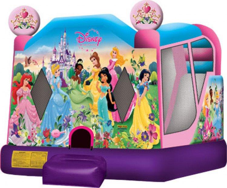 Princess Bounce House Disney Combo Wet