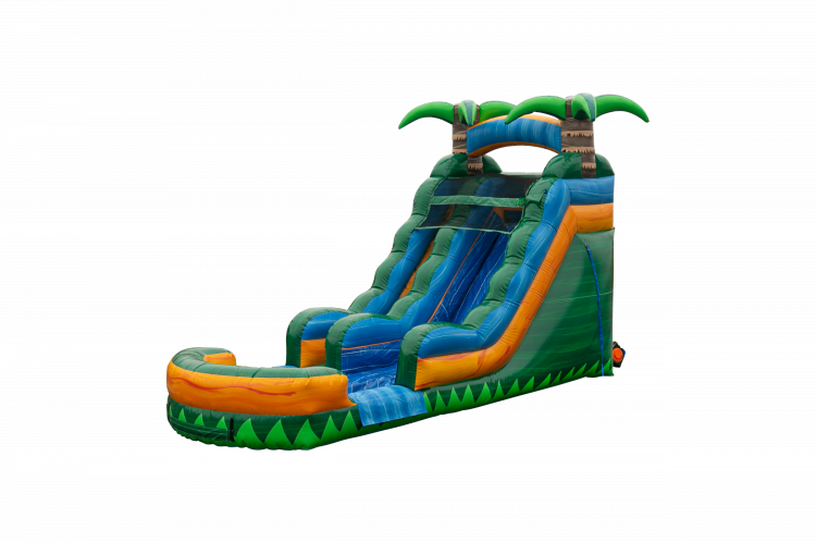 WS1419 1611859633 big Tropical Emerald Rush Water Slide 15 ft.
